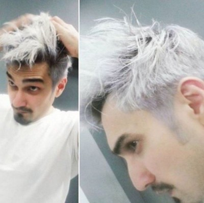 Uzair Jaswal in new Avatar with Platinum Blonde