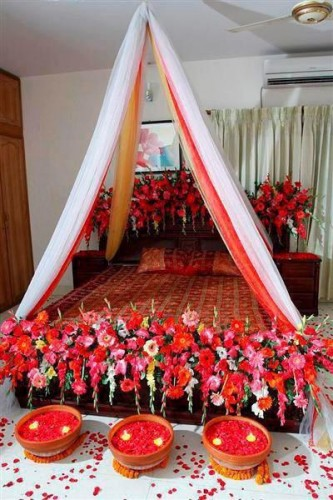 Wedding room decoration ideas 2016 fashion 2017 for Asian wedding bed decoration ideas