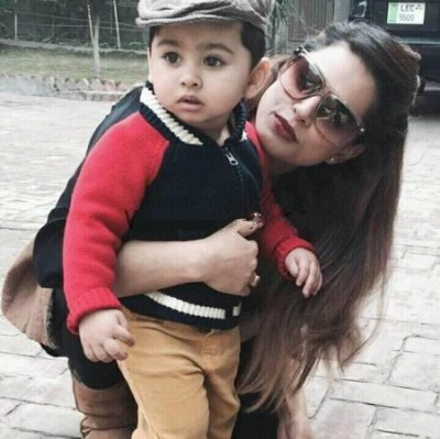 Mehreen Rahee -With Her Son