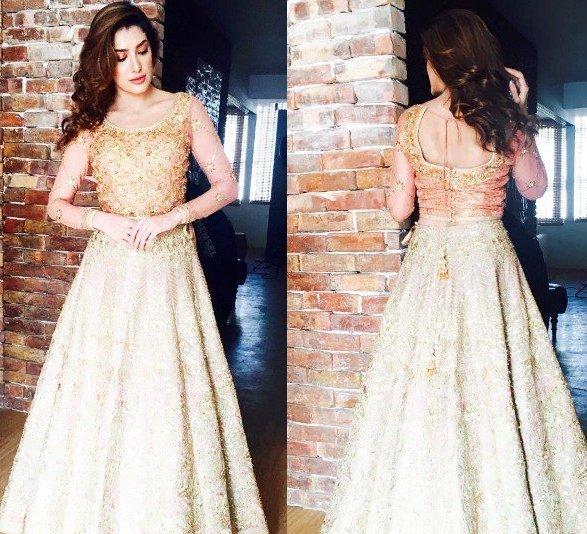 Pakistani Party Wear Golden Dresses - Fashion 2017