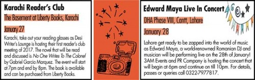 Upcoming Events in Karachi and Lahore