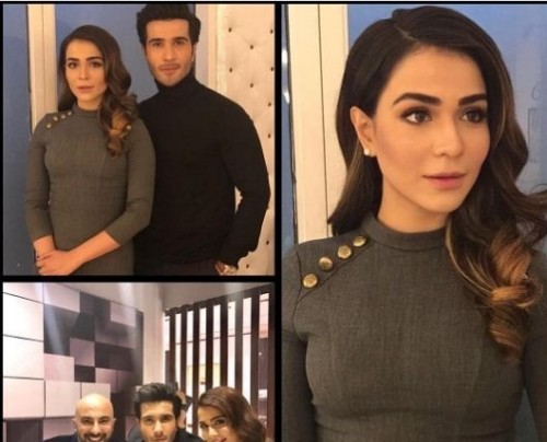 Feroze Khan and Humaima Malick at Tonight with HSY