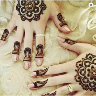 Arabian Tikka Style Mehndi Design