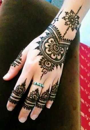 Simple Eid Henna Design on Wrist