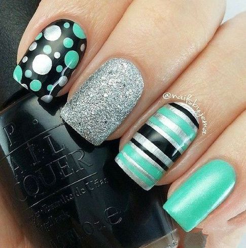 Shimmer Nail Design Ideas