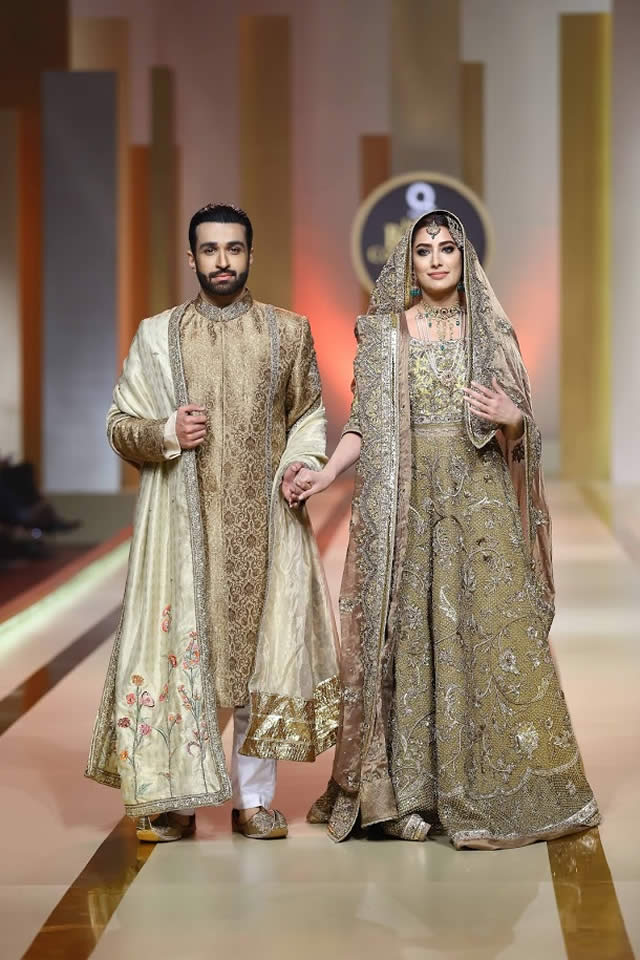 Fashion 2017 color trends - Fahad Hussayn Collection At Qmobile Hum Bridal Couture