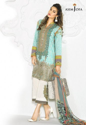 Asim Jofa Digital Prints Summer Dresses 2017