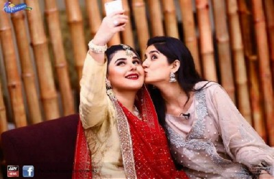 Sanam Baloch and Javeria Saud