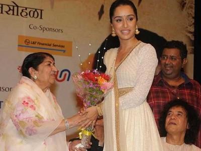Lata Mangashkar and Shraddha Kapoor