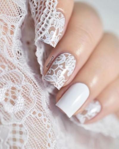 Mild Net Pattern Nail Art Design