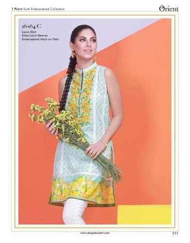 Orient Textiles Kurti Series 2 Eid Collection 2017