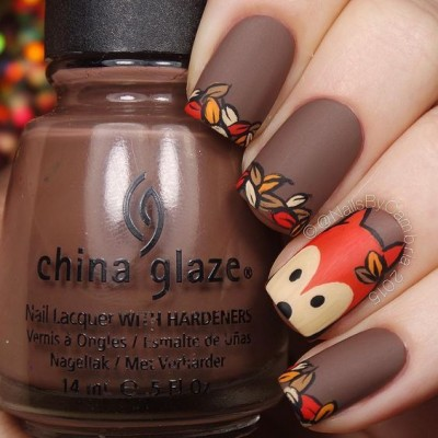 Petal Glaze Nail Art Design