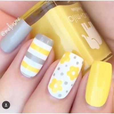 Tri Color Nail Art Design