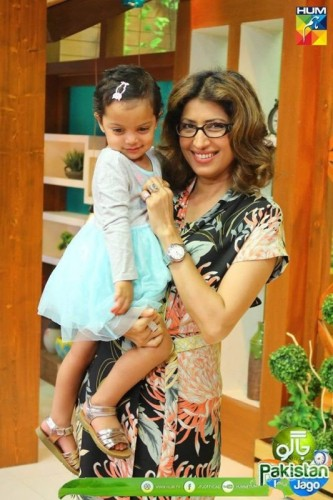Vaneeza Ahmad with Mother and Daughter in Jago Pakistan Jago