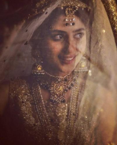 Sajal Ali Bridal Photo shoot