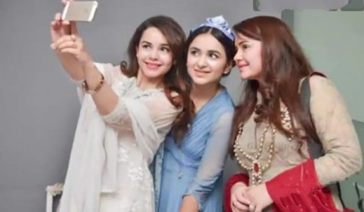 Yumna Zaidi with Family Pictures