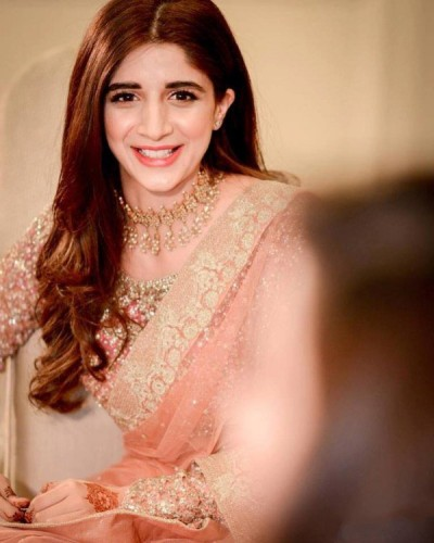 Mawra Hocane in Saree at a Wedding