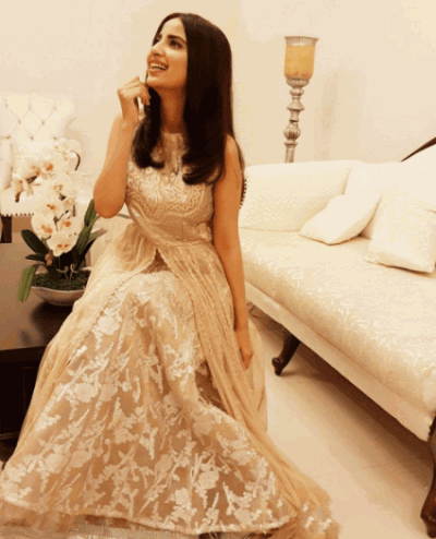 Gorgeous Saboor Ali in Ivory Gown at Birthday Party