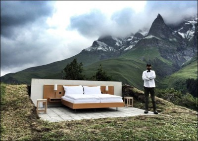 An Open Air Hotel in Switzerland Without Roof And Wall