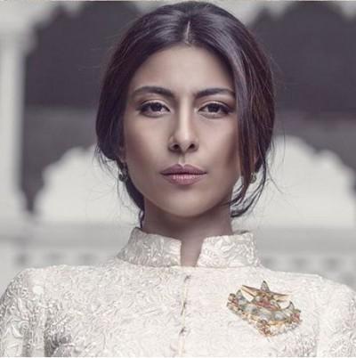 Actress Meesha Shafi poses for Khaadi's campaign