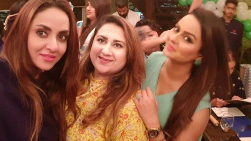 Nadia Khan with Friends