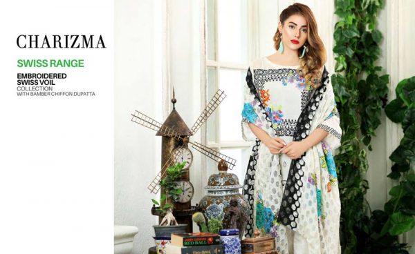 Charizma Embroidered Swiss Range Eid-ul-Azha 2017 Collection