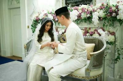 Wedding of Malaysian Princess with Dutch Model