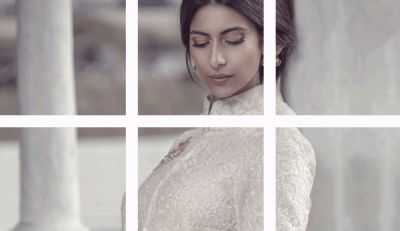 Actress Meesha Shafi poses for Khaadi campaign