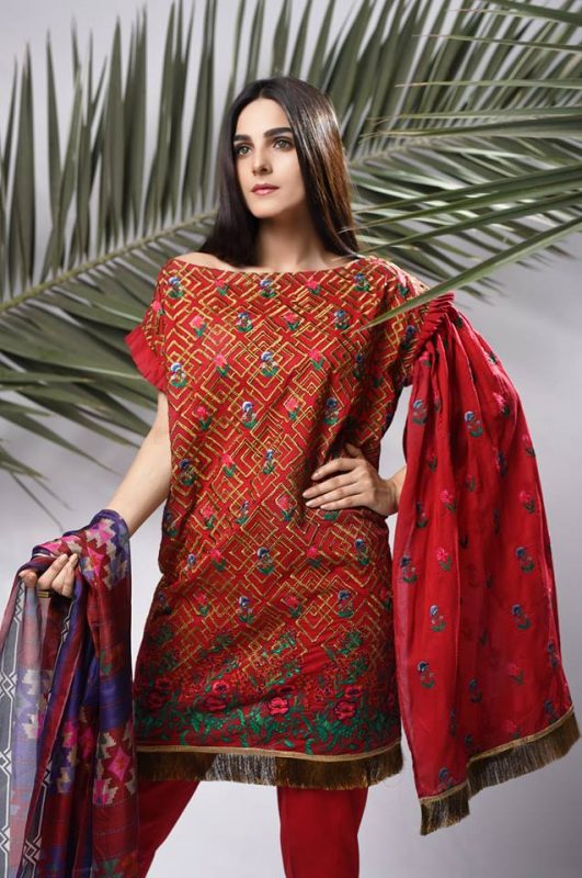 Nimsay Unstitched Embroidered Eid Collection 2017