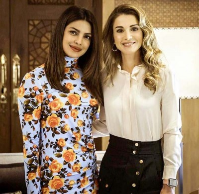 Queen Rania Priyanka Meeting