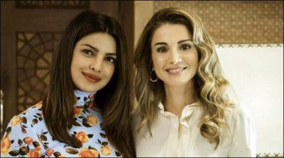 Queen Rania Priyanka Meeting