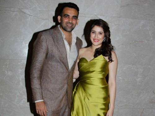 Zaheer Khan and Sagrika Ghatkay