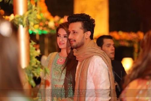 Atif Aslam and Sara Bharwana Recent Click