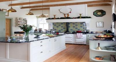 large stylish kitchen