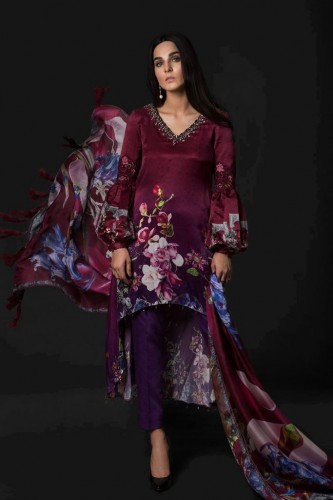 Maria B Silk Dresses Collection 2