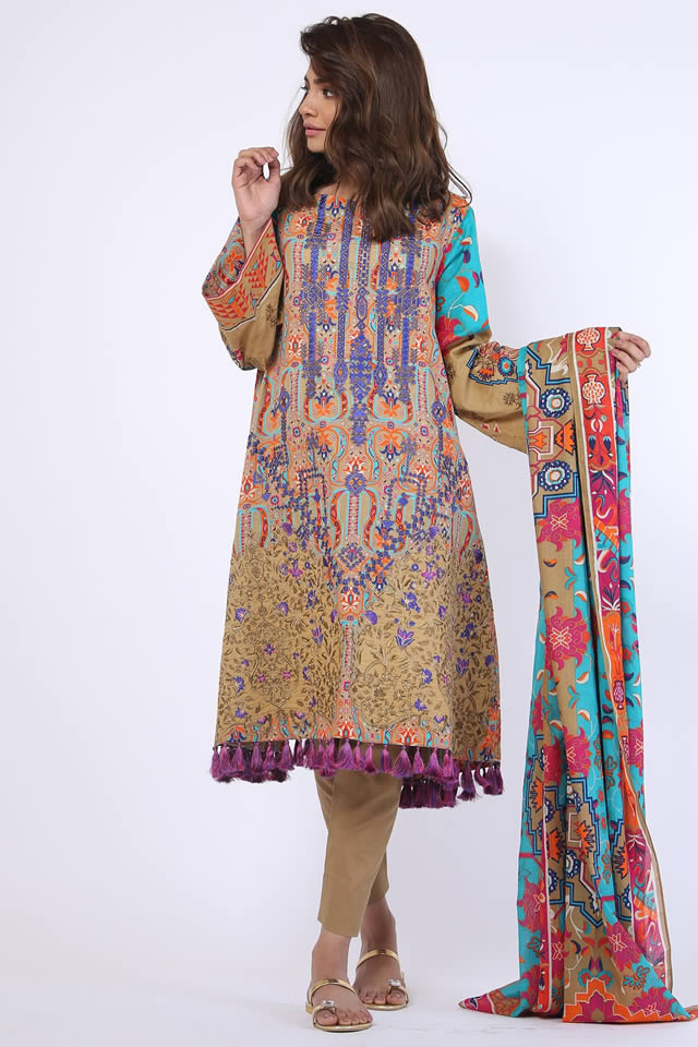 Spring Summer Embroidered Collection 2018 By Alkaram ...