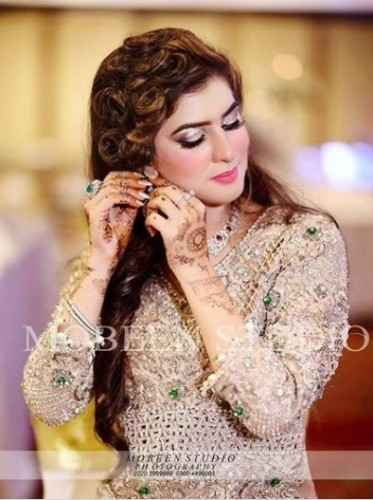 Latest Pakistani Brida  Hairstyles 2018 9