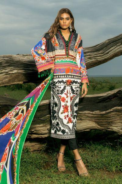 Sana Safinaz Women Lawn Collection 2018 Fashion 2019