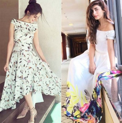 Stylish by Wearing off the shoulder dresses