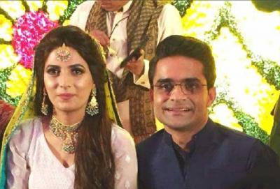 Shahzeb Khanzada with his Wife