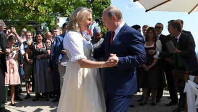 Putin danced with Austrian FM on Her Marriage 8