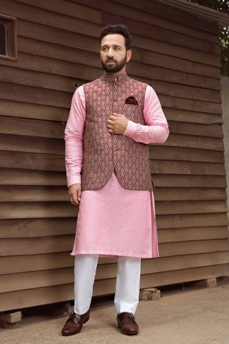 Shameel Khan Festive Eid Kurta & Waistcoat Collection 3