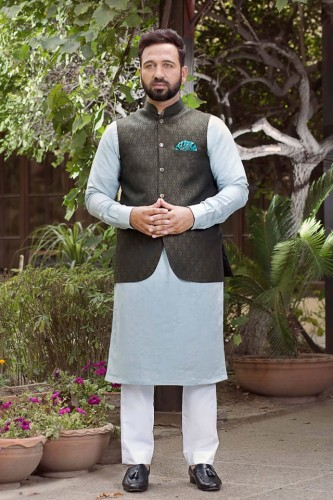 Shameel Khan Festive Eid Kurta & Waistcoat Collection 8