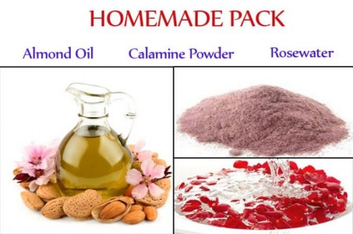 Homemade pack for sensitive skin