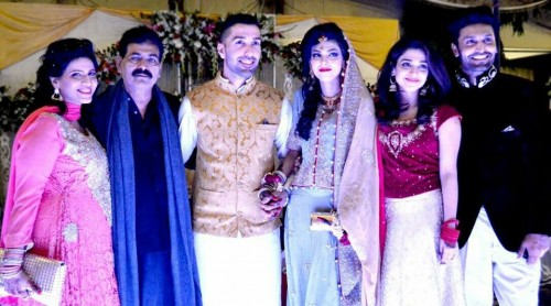 Sonia with her husband in a wedding