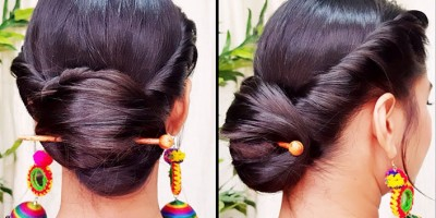 An Updo Hairstyle