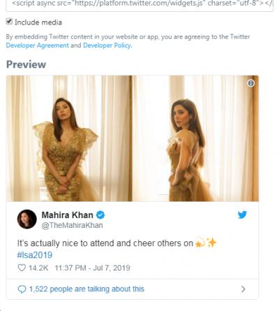 Mahira Khan Tweet