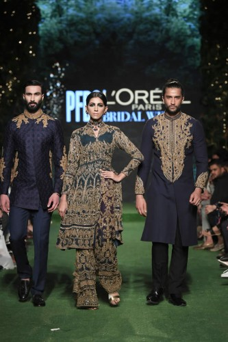 HSY Showcased Bridal Collection at PFDC L'Oreal Paris Titled 'Empire'