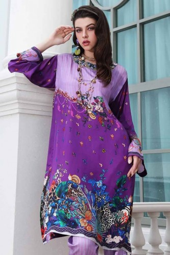 Gul Ahmed Digital Silk dresses 2019