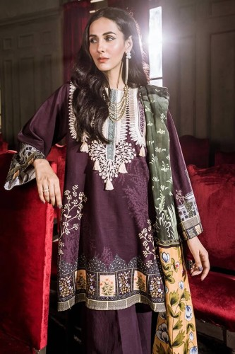 Latest Khaddar Cross Stitch Dresses 2020